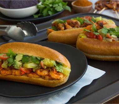 D'Italiano® Grilled Cajun Shrimp Dog with Avocado Salsa