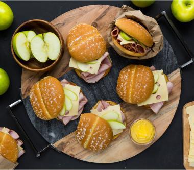 D'Italiano® Ham, Swiss & Apple Sandwiches