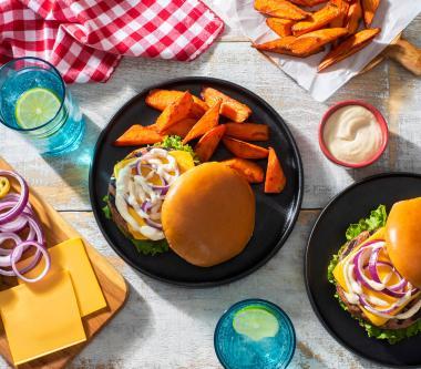 Burgers sucrés et épicés au fromage et à la dinde D'Italiano