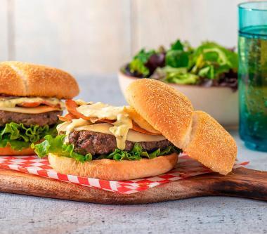D'Italiano® Crispy Prosciutto and Provolone Burgers